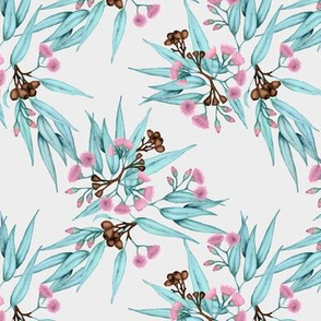 Gumnuts Pale Purple Blossoms