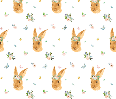 "7"" Springtime Bunny fabric by shopcabin on Spoonflower - custom fabric"