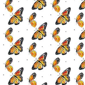 TwoMonarchButterflies_11x14in_150dpi_10M_