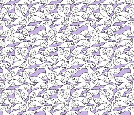 Baby Seals - Purple Version fabric by blacklilypie on Spoonflower - custom fabric
