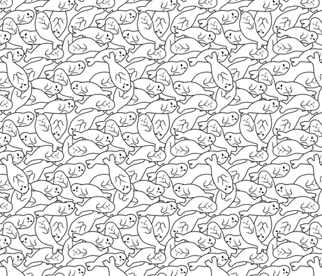 Baby Seals - White Version fabric by blacklilypie on Spoonflower - custom fabric