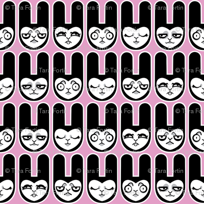 Bunny Faces - Pink Version
