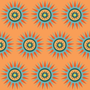 blue orange southwest star