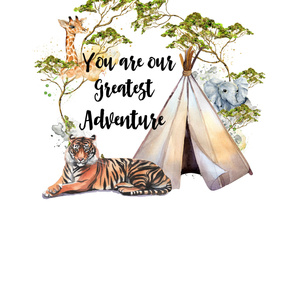 "56""x72"" Safari Adventure - Quote"