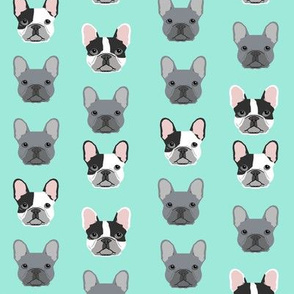 frenchie dog fabric french bulldogs grey and black and white fabric frenchies fabric