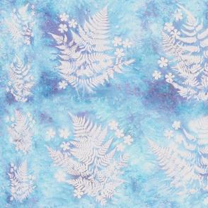 Blue Fern Sunprints 8in Squares