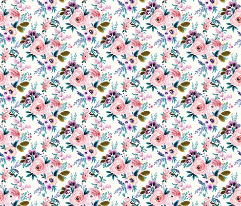Victoria-Floral_medium fabric by crystal_walen on Spoonflower - custom fabric