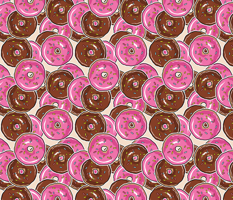 Just DONUTS fabric by blacklilypie on Spoonflower - custom fabric
