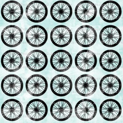 wheel || blue - motocross dirt bike