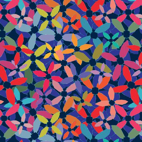 Roudoudou fleurs fabric by leventetladiscorde on Spoonflower - custom fabric