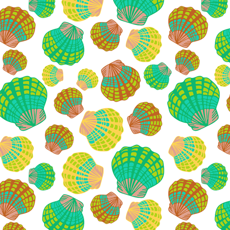 Sunrise Shells Part Deux fabric by sopupuka on Spoonflower - custom fabric