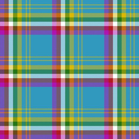 "Yukon province asymmetrical tartan, 3"" bright fabric by weavingmajor on Spoonflower - custom fabric"