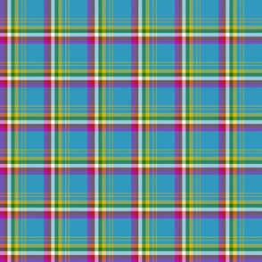 "Yukon province asymmetrical tartan, 3"" bright"