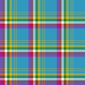 "Yukon province asymmetrical tartan, 6"" bright"