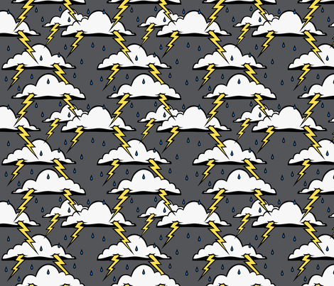 Stormy - Normal colour version fabric by blacklilypie on Spoonflower - custom fabric