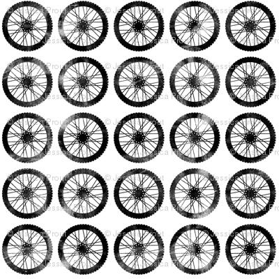 wheels || on white - motocross dirt bike