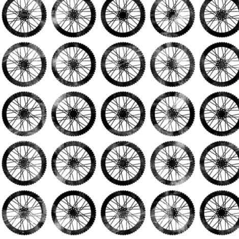wheels || on white - motocross dirt bike fabric by littlearrowdesign on Spoonflower - custom fabric