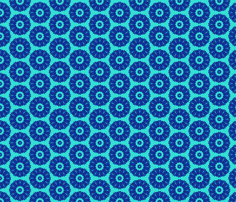 Blue Lace fabric by choffman on Spoonflower - custom fabric