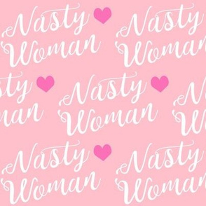 nasty woman fabric girls girl power feminist design - pink
