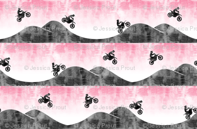(small scale) motocross / dirt bike  || pink