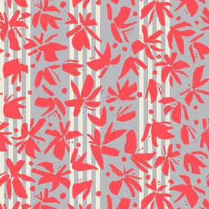 Tropical flowers — red