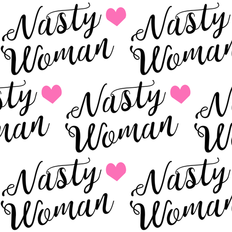 nasty woman fabric girls girl power feminist design fabric by charlottewinter on Spoonflower - custom fabric