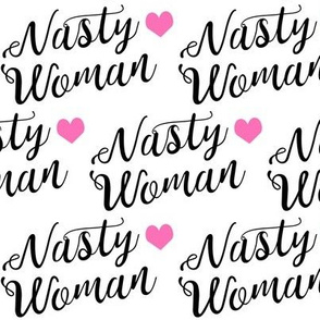 nasty woman fabric girls girl power feminist design
