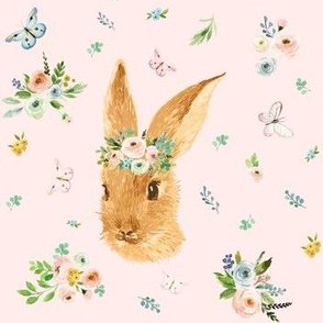 "7"" Spring Time Bunny - Pink"