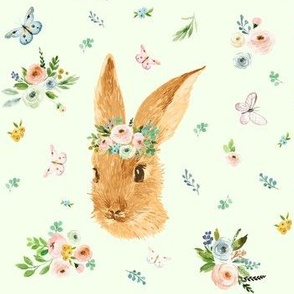 "7"" Spring Time Bunny - Minty Green"