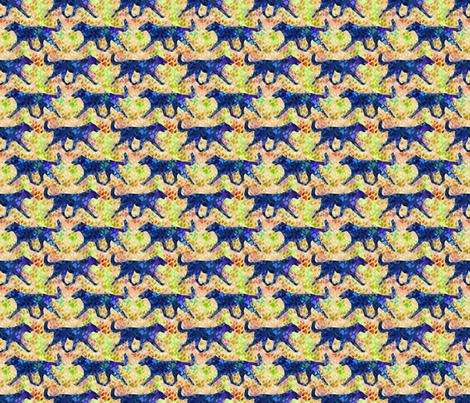 Cosmic trotting Smooth Collie - day fabric by rusticcorgi on Spoonflower - custom fabric