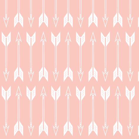 arrows// pink - the willow woods collection fabric by littlearrowdesign on Spoonflower - custom fabric