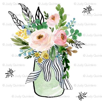 Floral Spring Jar