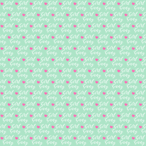 girl gang micro print fabric by charlottewinter on Spoonflower - custom fabric