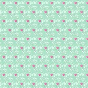 girl gang micro print