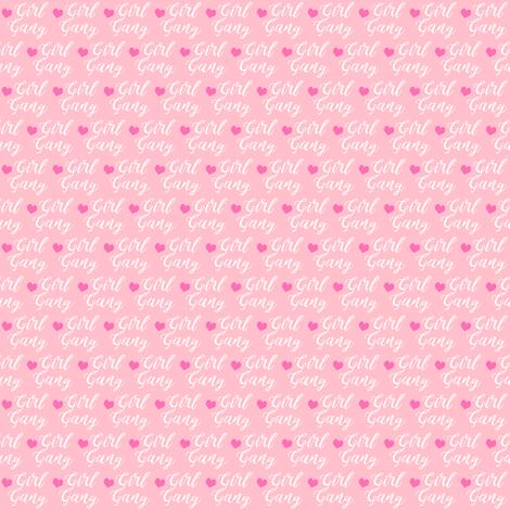 girl gang micro print - pink fabric by charlottewinter on Spoonflower - custom fabric