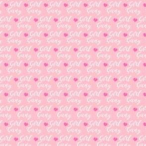 girl gang micro print - pink