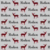 custom name fabric - hudson
