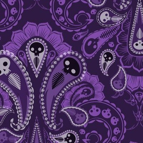 Ghost Paisley - purple2