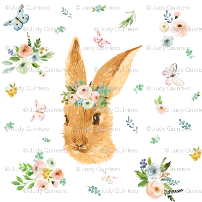 """2"""" Spring Time Bunny - More Florals"""