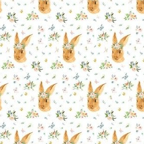 "2"" Spring Time Bunny - More Florals"