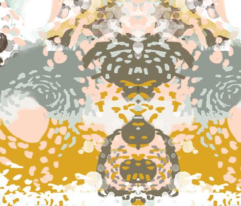 hutton - abstract art print charlotte winter nursery baby fabric by charlottewinter on Spoonflower - custom fabric