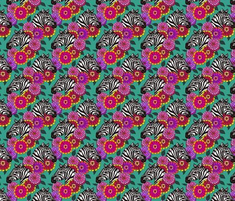 zebra_zinnia_zomp_5_4x4 fabric by leroyj on Spoonflower - custom fabric