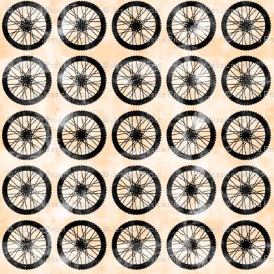 wheels || orange - motocross dirt bike