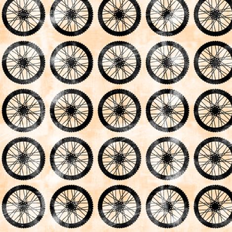 wheels || orange - motocross dirt bike fabric by littlearrowdesign on Spoonflower - custom fabric