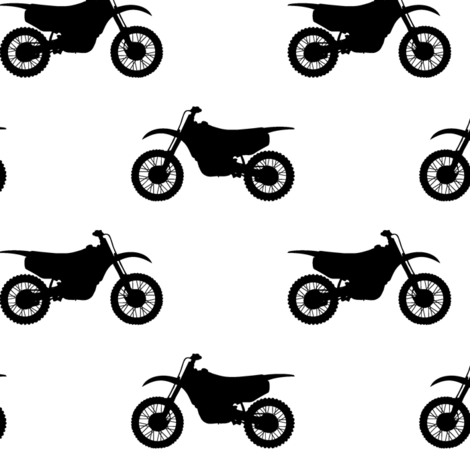 motocross bike  fabric by littlearrowdesign on Spoonflower - custom fabric