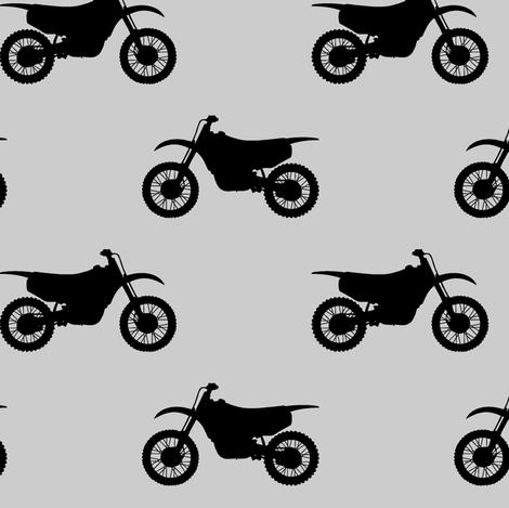 motocross bike on grey fabric by littlearrowdesign on Spoonflower - custom fabric