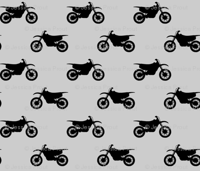 (small scale) motocross bike on grey