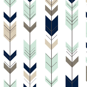 Fletching arrow  // navy,mint,brown