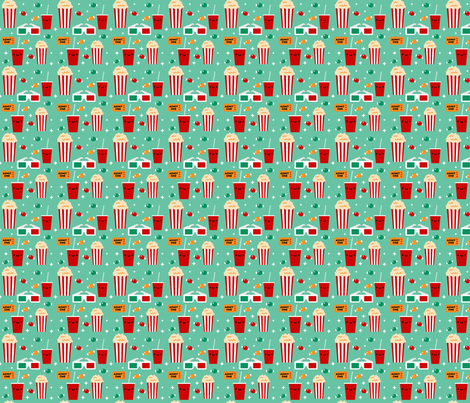 Movie Night fabric by emandsprout on Spoonflower - custom fabric