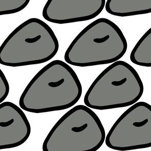 Abstract Grey shape